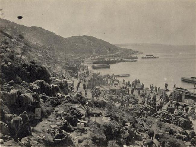 Gapa Tepe, Gallipoli Peninsula, Turkey. The beach at Kapa Tepe, Gallipoli Peninsula, Turkey. McKenzie, Fiona, fl 2004 :Photographs relating to Charles and Christina Andrews. Ref: PAColl-8147-1-08. Alexander Turnbull Library, Wellington, New Zealand. http://natlib.govt.nz/records/22453227