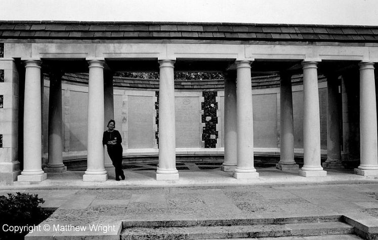 The New Zealand memorial at Tyne Cot cemetery near Ypres, Flanders. The wall behind lists the 1200 New Zealand officers and men who gave their lives from August 1917, at the battle of Broodsiende, through to October and the disaster of Passchendaele.