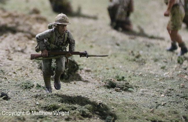 Another hand-held close-up of the diorama...