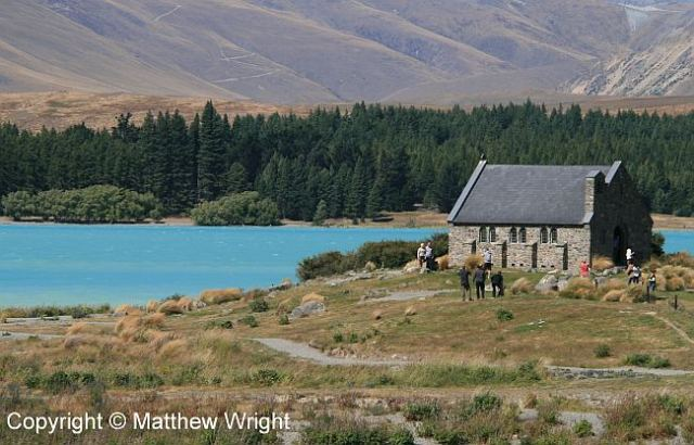 Lake Tekapo with its historic church.