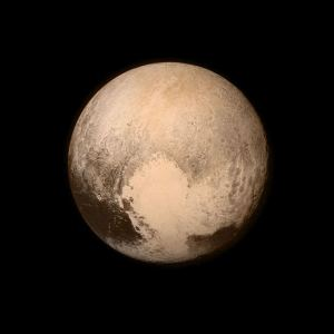 Pluto, taken with New Horizons' LORRI camera, 13 July 2015. Public domain, NASA/APL/SwRI