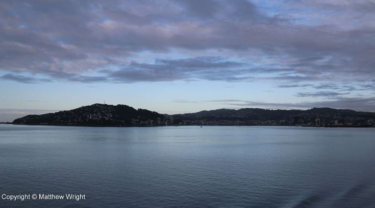 Port Nicholson - Wellington harbour. A photo I took at dawn. www.mjwrightnz.wordpress.com