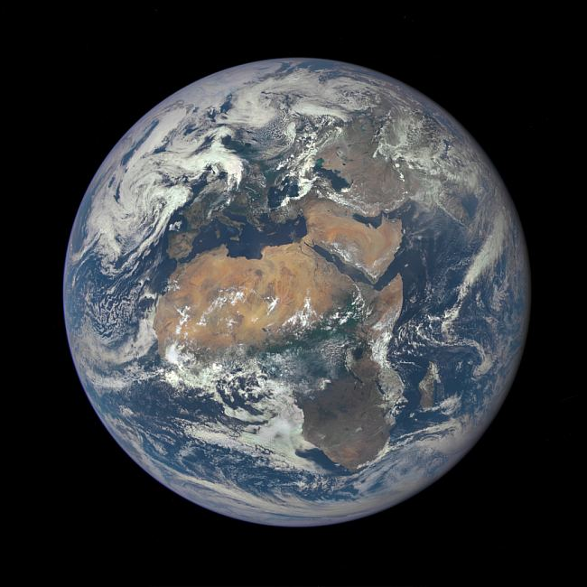 A beautiful picture from the other week of Earth from 1.6 million km sunwards. NASA, public domain.