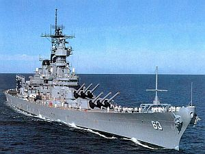 USS Missouri after her mid-1980s modernisation. Just because I do