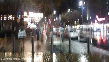 Courtenay Place, Wellington, on a very wet Saturday evening. www.mjwrightnz.wordpress.com