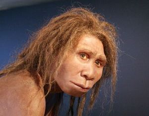Homo erectus georgicus, reconstruction and photograph by Élisabeth Daynes. Creative Commons 3.0 license, via Wikimedia commons.