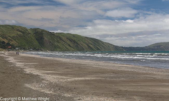 A photo I took of Paraparaumu beach.
