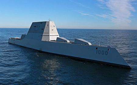 Zumwalt, US Navy, public domain, via Wikipedia.
