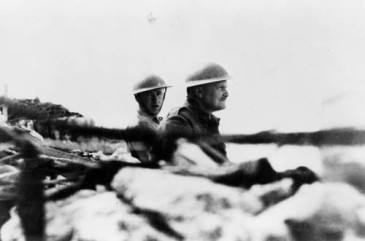 Major General Bernard Freyberg and Jack Griffiths watching the assault on Canea, Crete, during World War II. New Zealand. Department of Internal Affairs. War History Branch :Photographs relating to World War 1914-1918, World War 1939-1945, occupation of Japan, Korean War, and Malayan Emergency. Ref: DA-01149. Alexander Turnbull Library, Wellington, New Zealand. http://natlib.govt.nz/records/22646242