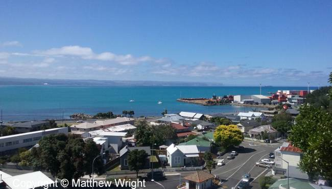 The breakwater harbour, Napier, New Zealand.