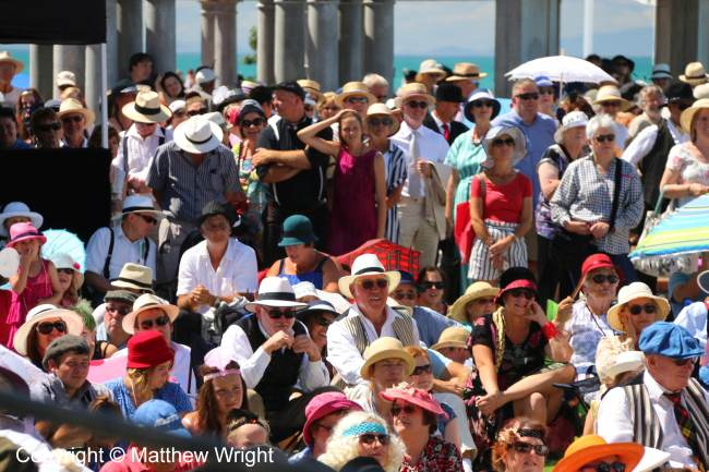 Crowds at the Art Deco festival, Napier, 2016.