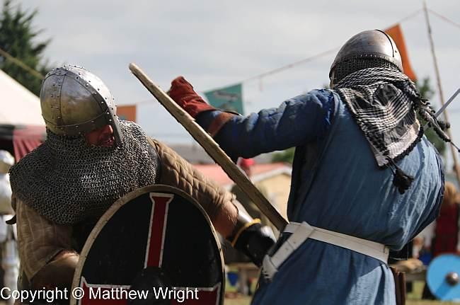 Medieval combat, 2016 style.