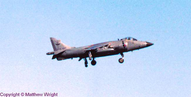 Sea Harrier in action - photo I took in the 1980s, scanned and resurrected...