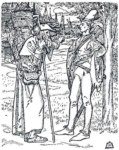 Robin Hood, from from Howard Pyle's The Merry Adventures of Robin Hood. Public domain, via Wikimedia Commons.