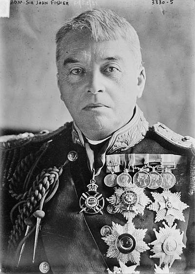 "Admiral of the Fleet Sir John Arbuthnot Fisher (1841-1920), inventor of ""OMG""."