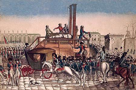 The execution of Louis VXI in Paris, 1793. Public domain, via Wikipedia.