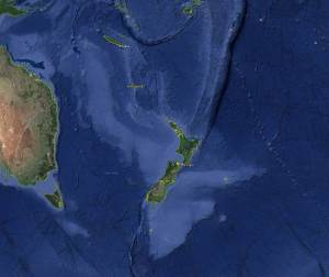 Zealandia today, as seabed, via Google Earth.